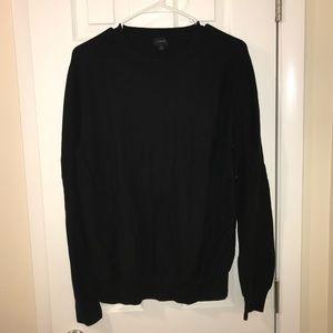 Black JCrew Crewneck Sweater